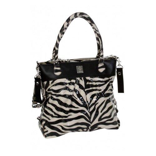 Kalencom The Wild Side Diaper Bag, Tiger Black/Cream