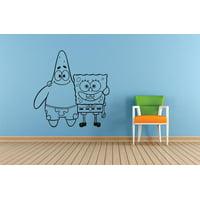 Patrick Spongebob Squarepants Cartoon Kids Children School Classroom Daycare Pre School Art Custom Wall Decal Vinyl Sticker 12 Inches X 12 Inches