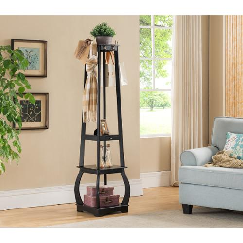 K and B Furniture Co Inc K & B CR1436 Coat Rack With Storage