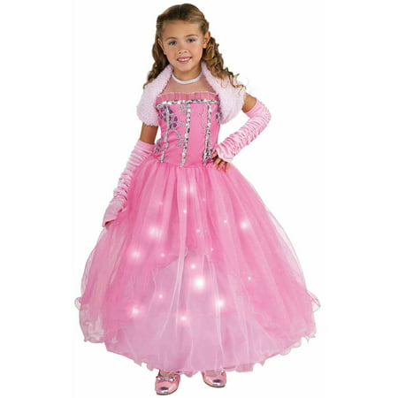 Pretty Pink Princess Girls Halloween Costume - Walmart.com