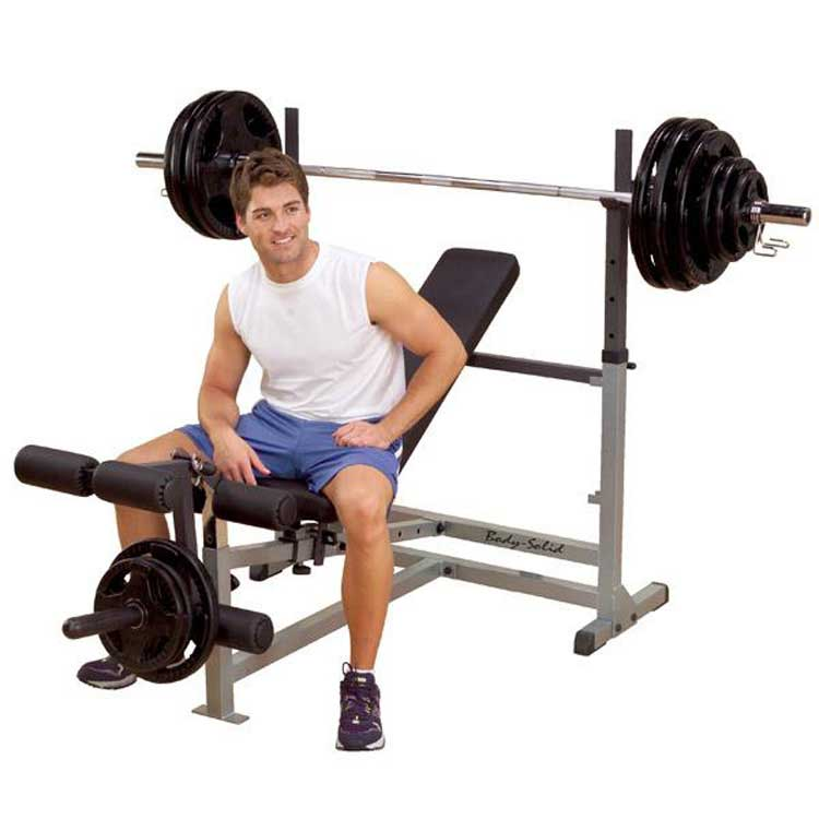 Olympic Bench Package w Row Station
