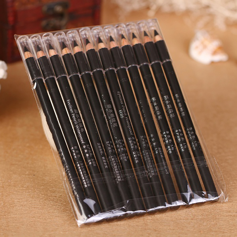 Obstce 6 Pcs Smooth Makeup Pen Eye Liner Eyeliner Pencil Women Cosmetic Accessories
