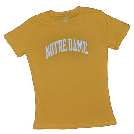 Notre Dame Fighting Irish T-shirt - Ladies By League - Yellow