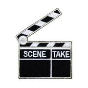 ID 2368E Scene Clapper Board Patch Movie Take Sign Embroidered Iron On Appliques