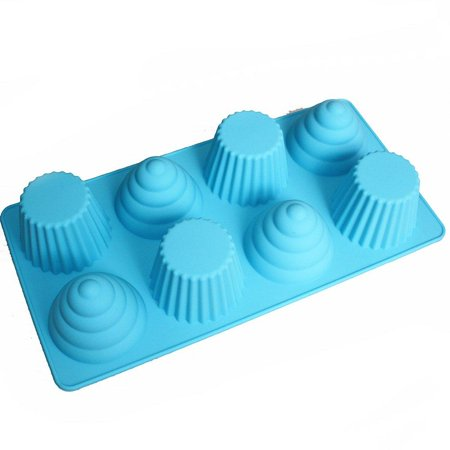 X-Haibei Great Ice Cream Cone Cupcake Soap Pan Bakeware 8-cavity