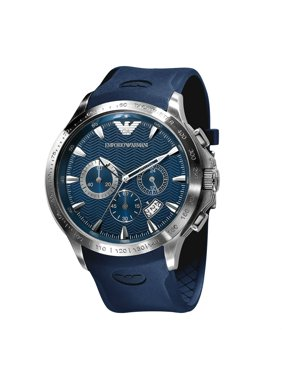4acce3a13e4 Product Image Emporio Armani Chronograph Men s Blue Rubber Strap Watch  AR0649