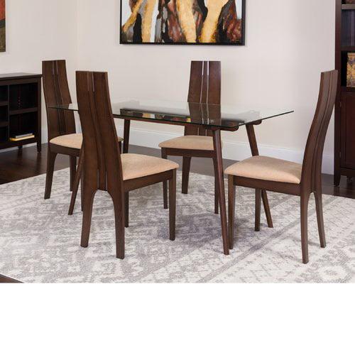 Winston Porter Hummel 5 Piece Solid Wood Dining Set
