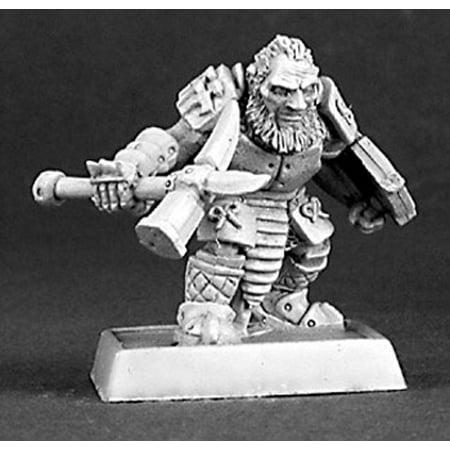 Reaper Miniatures Dark Dwarf Warrior, Mercs #14331 Warlord, Mercenary Unpainted