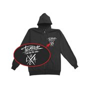 Terror Men's Hard Lessons Zippered Hooded Sweatshirt X-Large Black