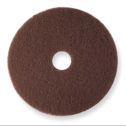 3M 7100 Stripping Pad, 21 In, Brown, PK 5
