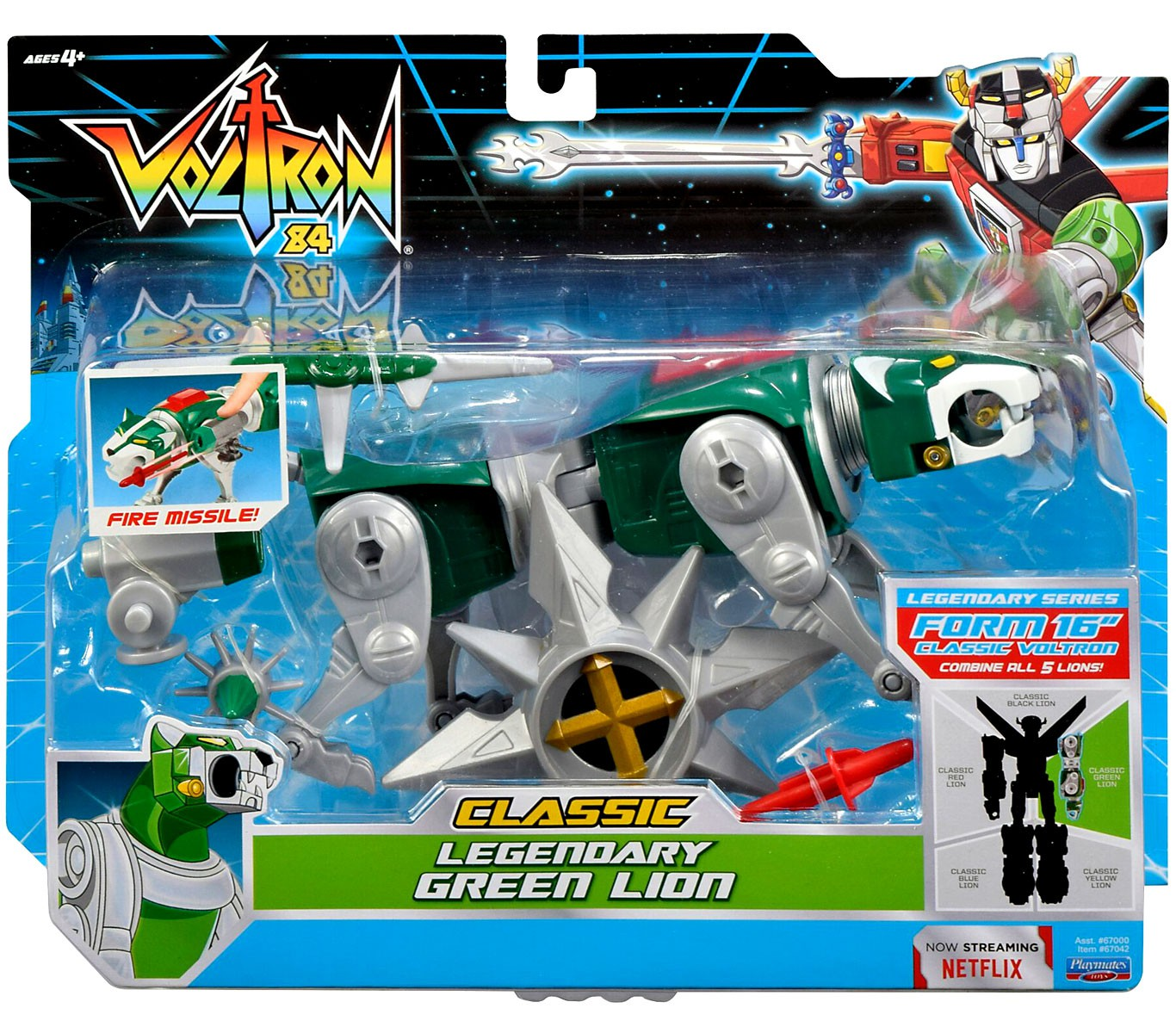 Voltron CLASSIC Legendary Green Lion Combinable Action Figure by Playmates Toys Inc.