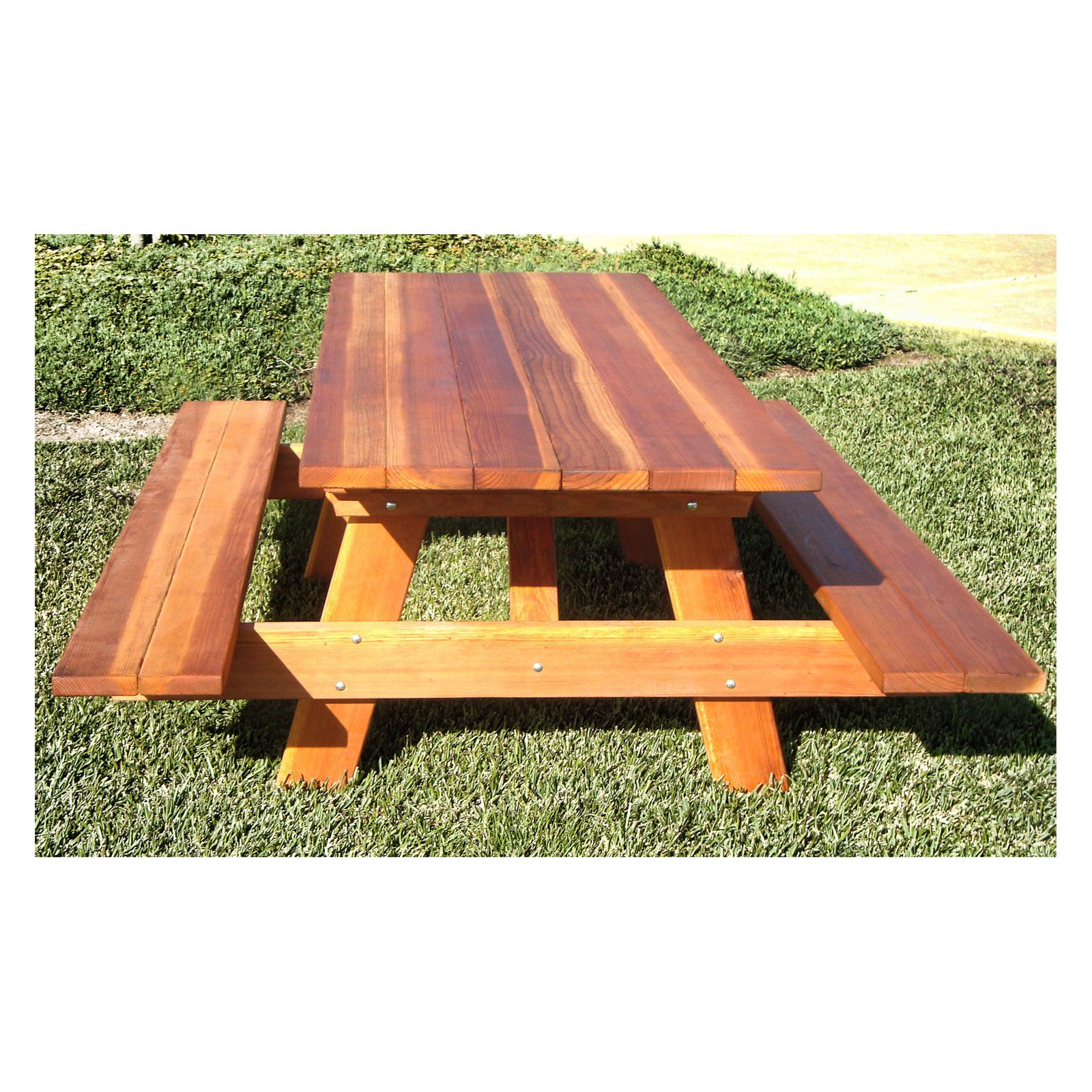 Best Redwood Traditional Picnic Table