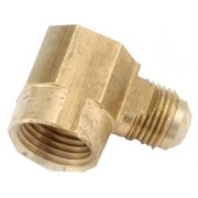 714050-0806 Brass Flare Elbow, 90-Degree, Lead-Free, 1/2 x 3/8-In. FIP - Quantity 1