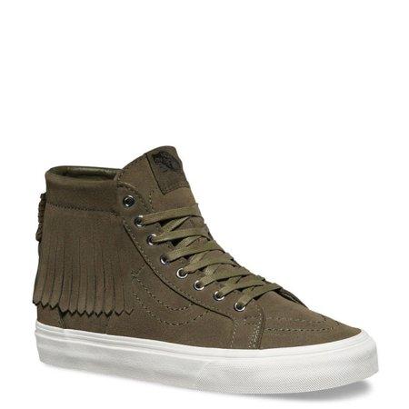 3e728edf1c5752 Vans - Vans Sk8-Hi Moc Suede Black   Blanc De Ankle-High Fashion Sneaker -  6M 4.5M - Walmart.com