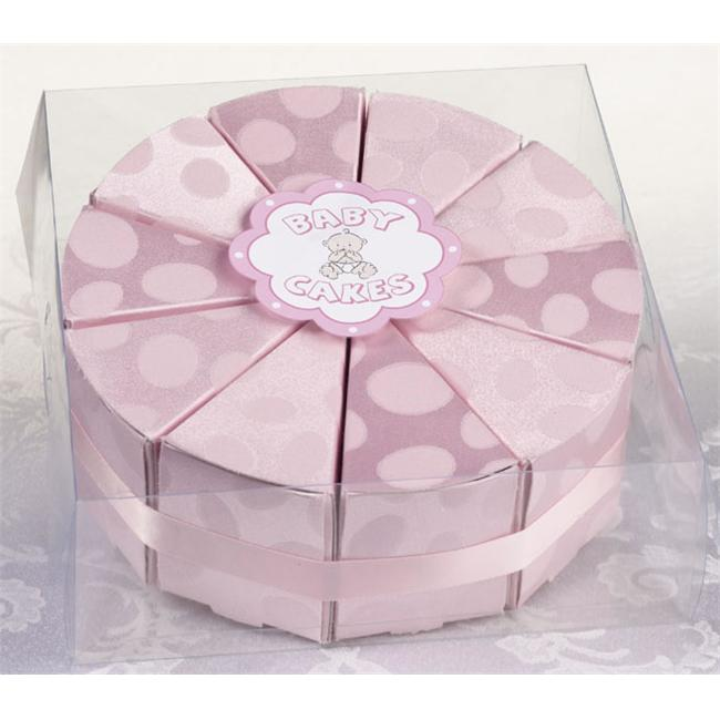 Lillian Rose 24FA110 P Set of 10 Baby Cakes Favor-Pink