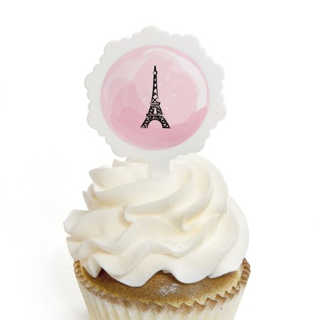 Paris, Ooh La La - Cupcake Picks with Stickers - Paris Themed Party Cupcake Toppers - 12 Count](Cupcake Pics)