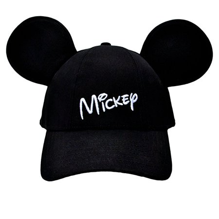 Mickey Mouse - Adult Mickey Mouse Baseball cap with Ears Snapback Black W11  - Walmart.com 217accff9a9