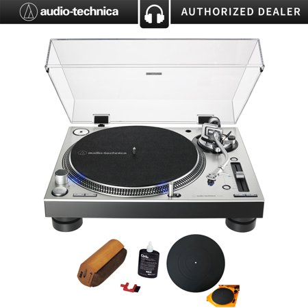 Audio-Technica AT-LP140XP Direct-Drive Professional DJ Turntable - (Silver) with 12
