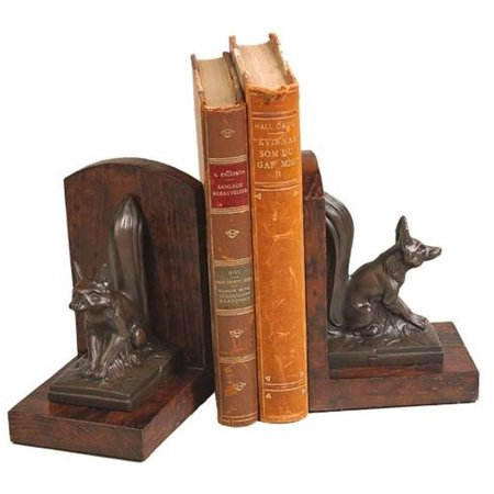 Bookends Bookend Sitting Fox Petite Cast Resin New Hand-Cast Hand-Painte -