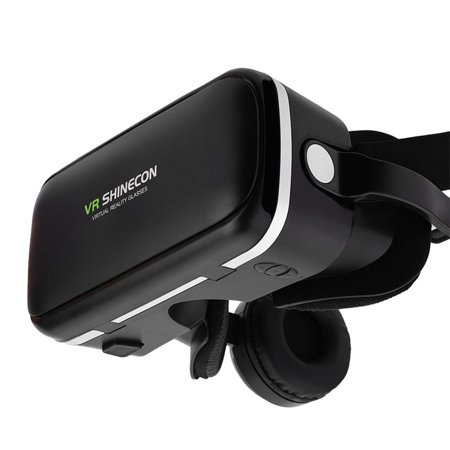 WALFRONT For VR SHINECON Virtual Reality 3D VR Glasses w/ Earphone for 3.5 -6.0 Android iOS Phones, 3D Virtual Reality Glasses, VR Goggles - image 5 of 8