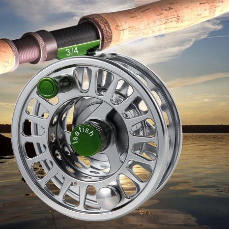 Fly Reel Fishing Reel with Stainless Steel Ball Bearings Aluminum Alloy CNC Machined Body 3/4, 5/6, 7/8 for Saltwater Freshwater - image 8 de 8