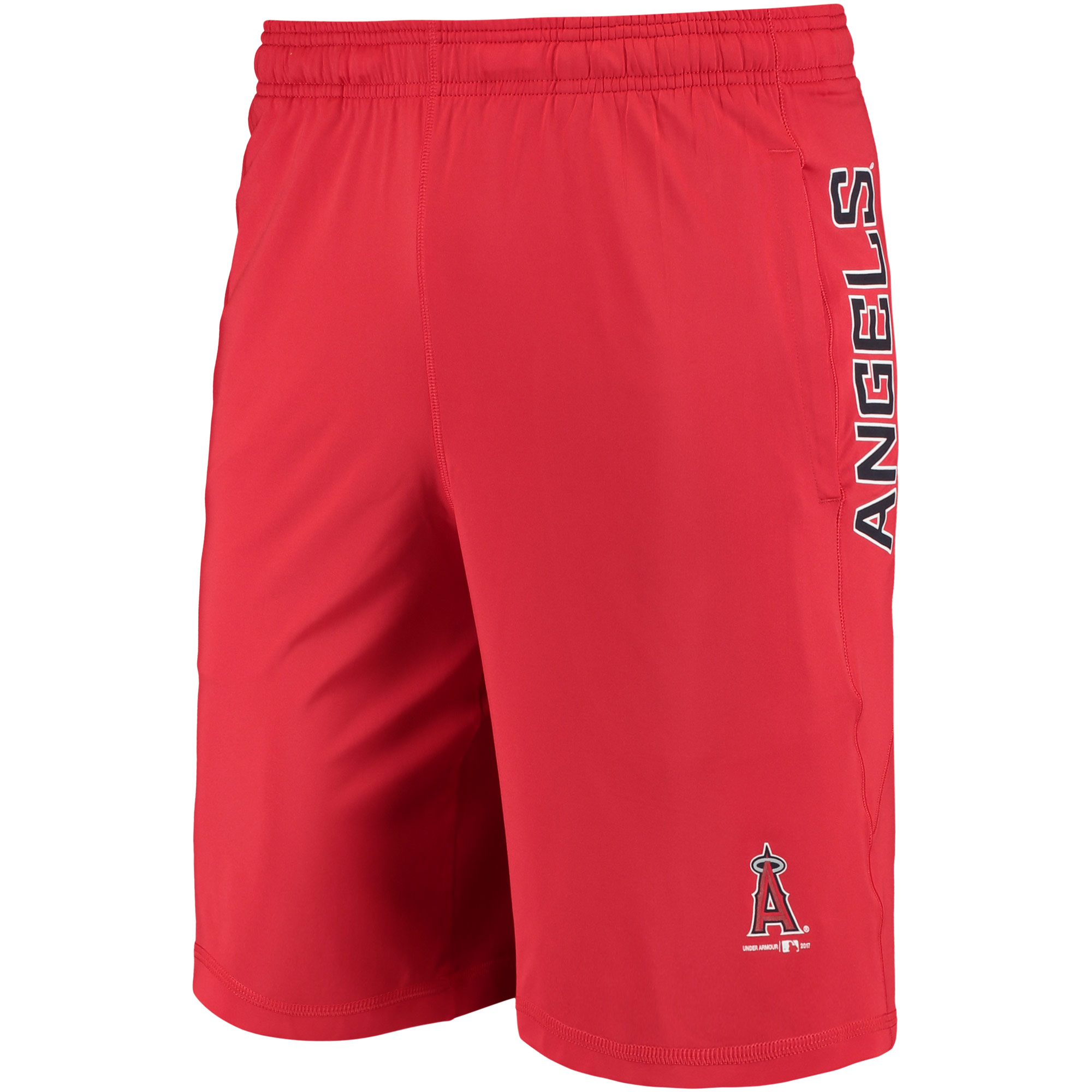 Los Angeles Angels Under Armour Raid Solid Shorts - Red