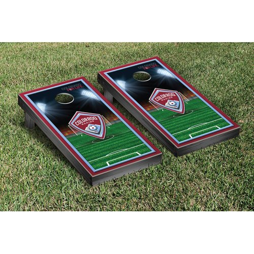 Victory Tailgate NCAA Soccer Field Version 1 Cornhole Game Set