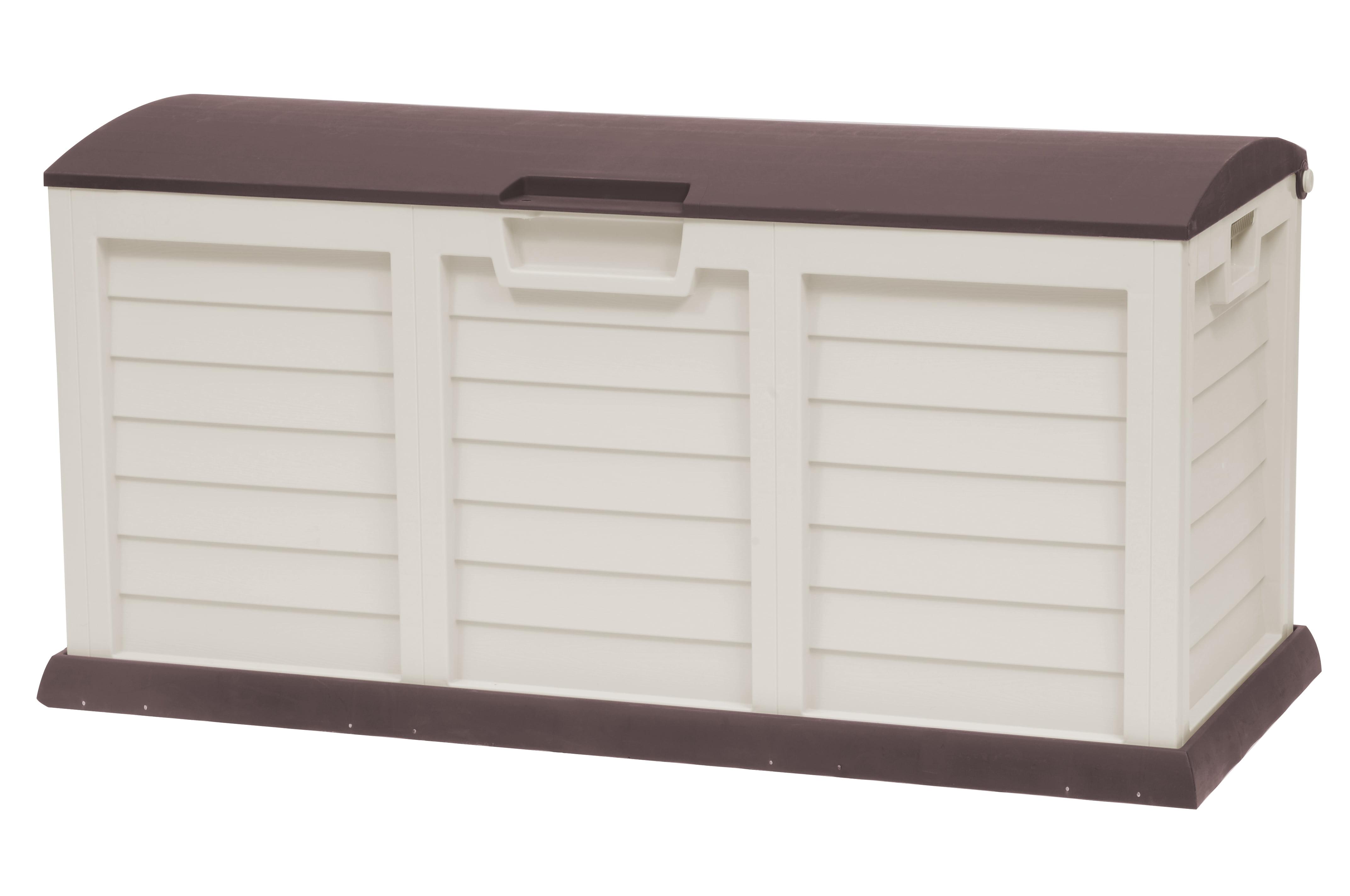 103 Gallon Deck Box With Dome Lid, Light Mocha Brown by Starplast