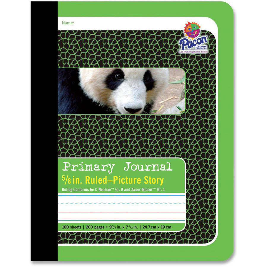 "Pacon Primary Composition Book with Picture Story Space, 9.75"" x 7.5"", 200 Pages"