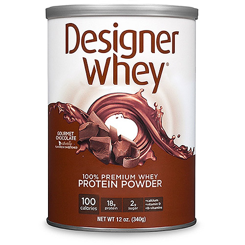 Designer Whey Chocolate Protein Powder, 12 oz