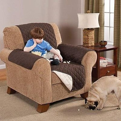 Deluxe Reversible LoveSeat Furniture Protector, Coffee / Tan