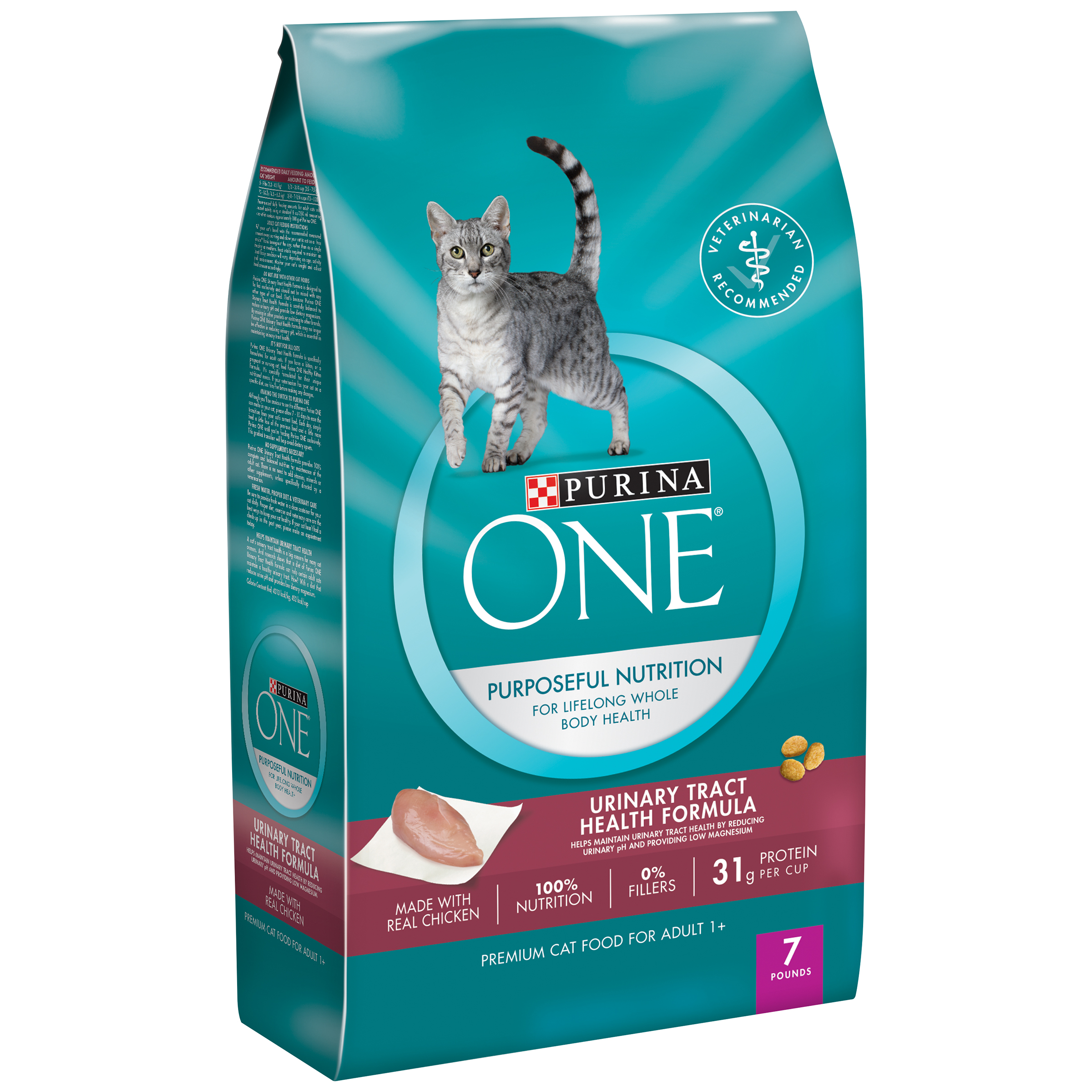 Purina ONE Urinary Tract Health Formula Adult Premium Cat Food 7 lb. Bag
