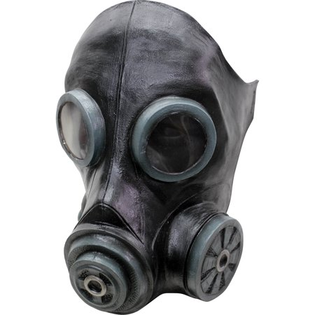 Black Smoke Latex Mask Adult Halloween Accessory