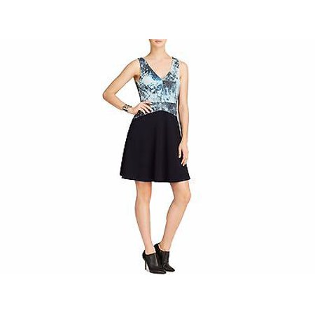 New  2560 Bailey 44 Dress Sleeveless Leather Print Bodice Fit & Flare Reef XS - 2560 Print