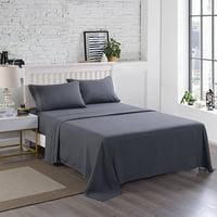 Deals on 4 Pieces 3000TC Soft Microfiber Bed Sheet Set