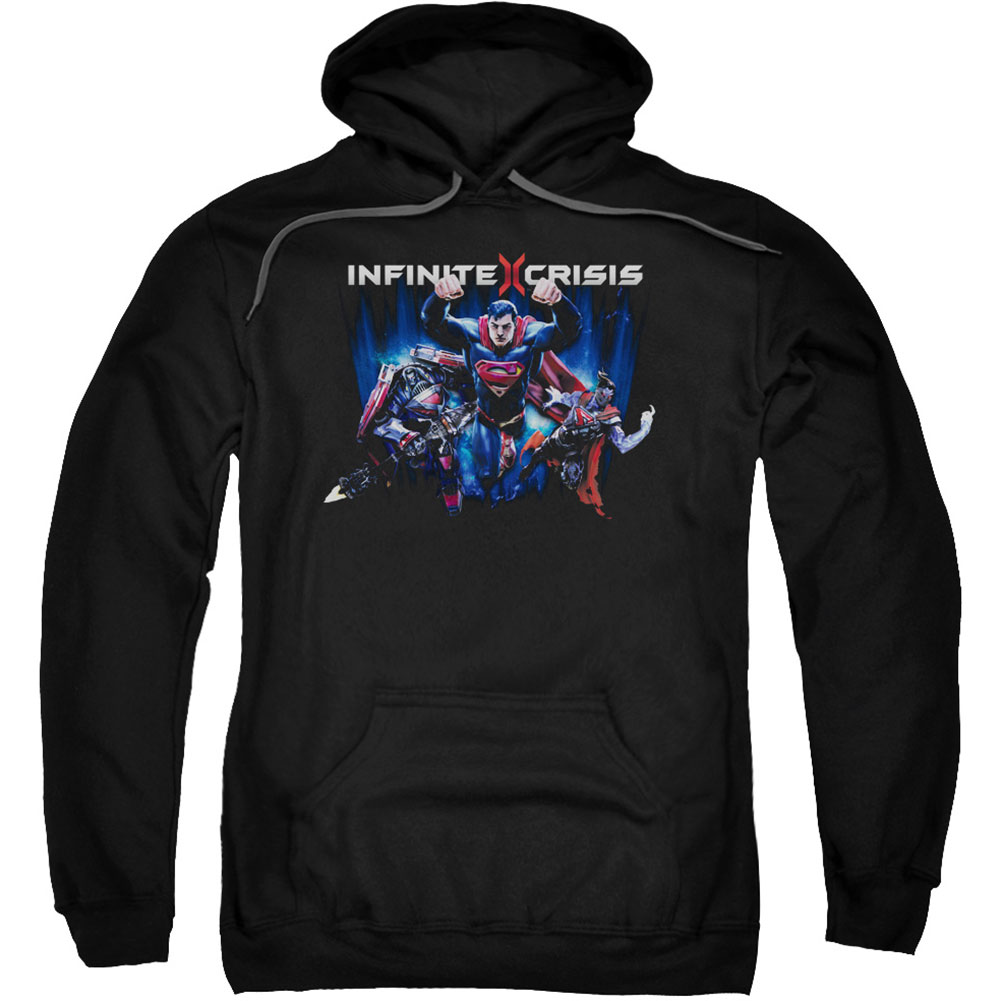 Infinite Crisis Men's  Ic Super Hooded Sweatshirt Black