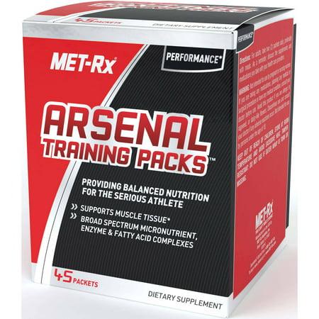 MET-Rx Arsenal Training Packs Dietary Supplement, 45 count (Arsenal Training Packs)