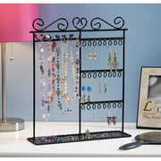 Jewelry Display Shelf - Black - 12 x 3.5 x 14 inches