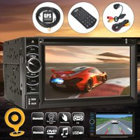 """Android 4.4 Quad Core WiFi 3G 6.5"""" Car GPS DVD Player 2 Din Radio Stereo"""