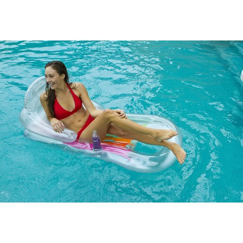 "Intex Inflatable King Kool Pool Lounge, 63"" x 33.5"""