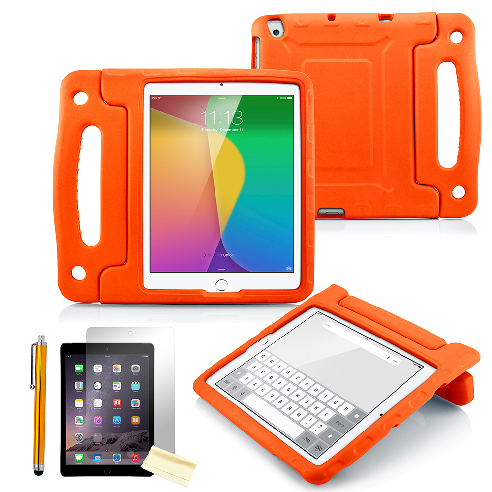 Children Safe Friendly Protective Foam Case Cover Grip Stand Stylus Screen Guard for The New iPad 2 3 4