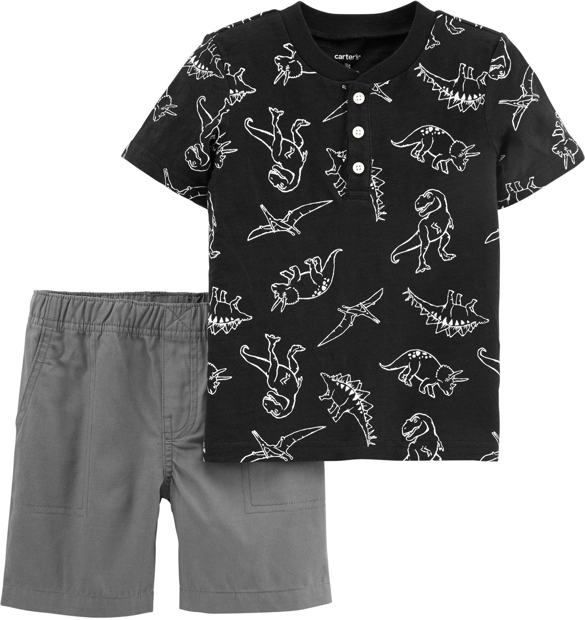 Carter/'s Toddler Boys/' Black /& White Swim Short Size 2T 4T