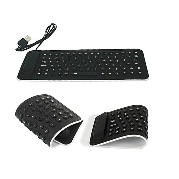 DZT1968® USB Mini Flexible Silicone Keyboard Foldable for Laptop Notebook