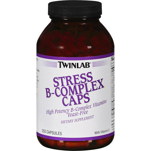 Twinlab Stress-B Complex High Potency Capsules, 250ct
