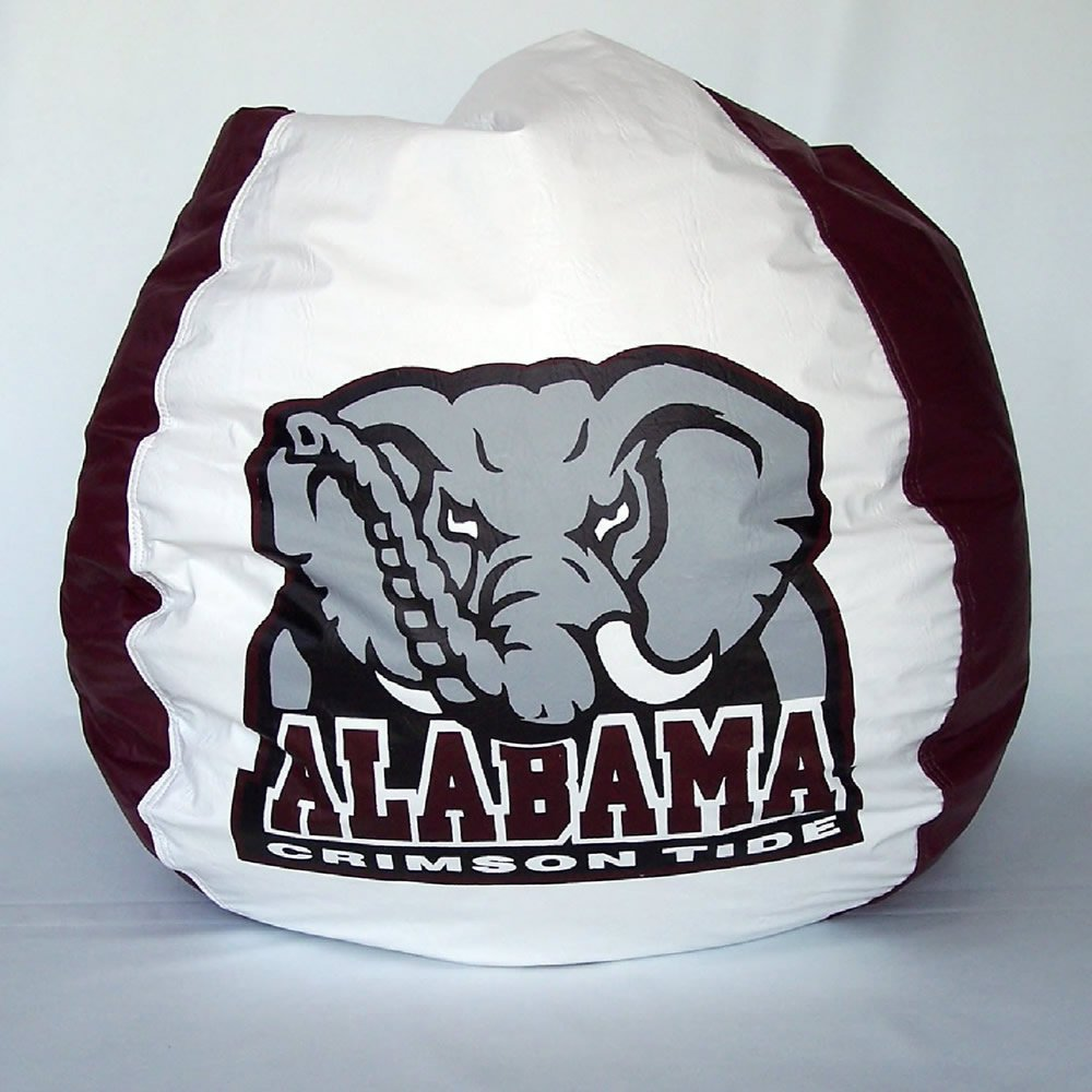 Bean Bag Boys Vinyl Bean Bag Chair in Alabama Crimson Tide
