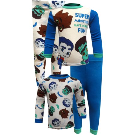 Monster Pajamas Toddlers (Netflix Super Monsters Cotton 4 Piece Toddler)