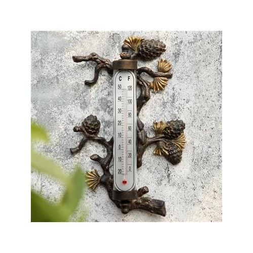SPI Home 33668 Pinecone Wall Mounted Thermometer
