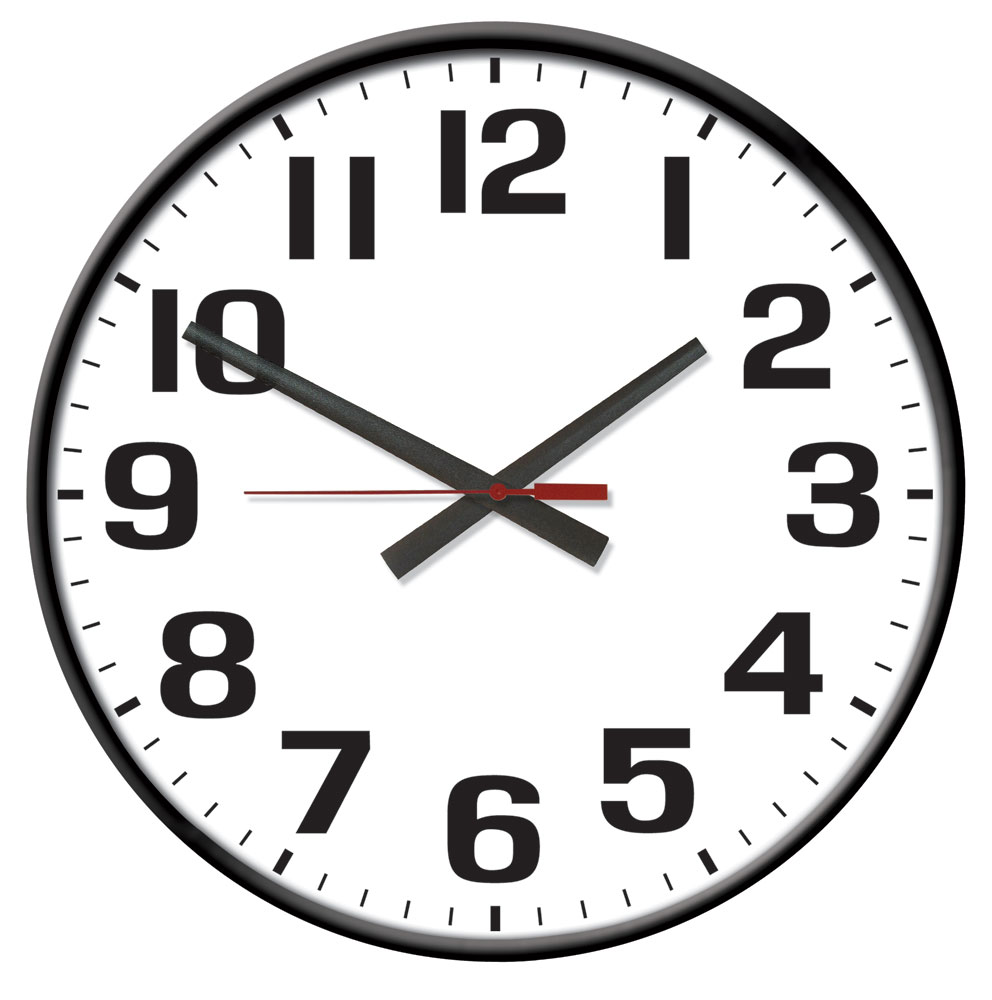 """Warrior II Electric Outdoor Black Sand Wall Clock 24-1/2"""" by J. Thomas - Made in the USA!"""