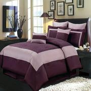 Elegant Wendy Purple 8-PC Bed in a Bag 100% Polyster Bedding Set