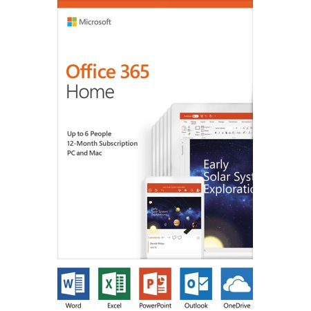 Microsoft Office 365 Home | 12-month subscription, up to 6 people, PC/Mac Key Card (Vpn Card)